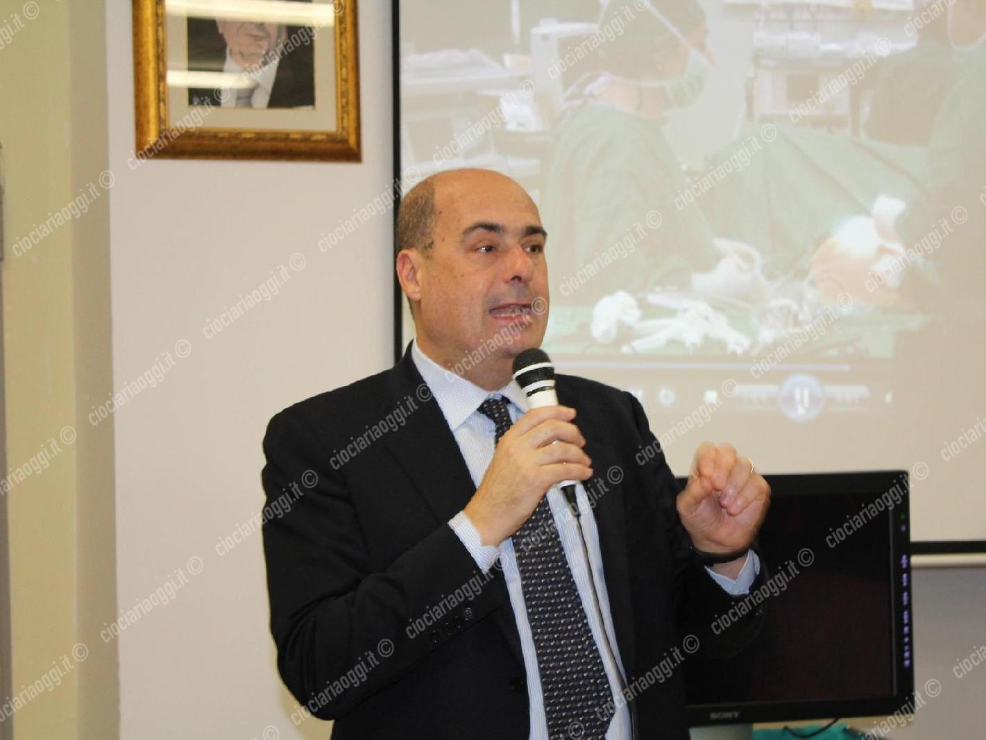 Regionali, Sergio Pirozzi presenta il logo: