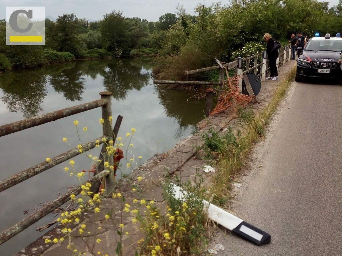 Auto nel fiume sulla Sp Ceprano-Falvaterra: recuperati due corpi senza vita