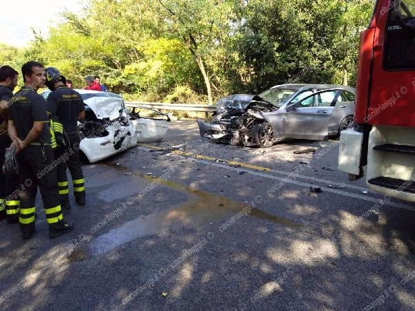 La tragica scena dell'incidente mortale