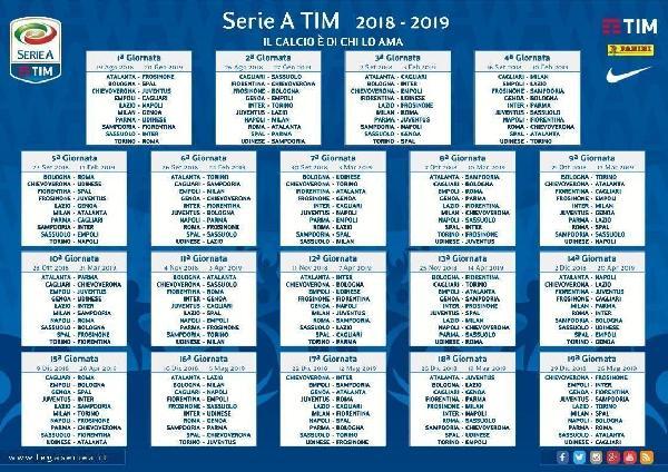 Calendario Calcio Seria A.Sorteggi Serie A Il Calendario Completo Del Frosinone Calcio