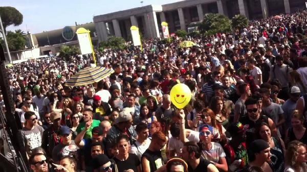 "Un momento della ""Million marijuana march"""