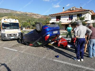 La drammatica scena dell'incidente